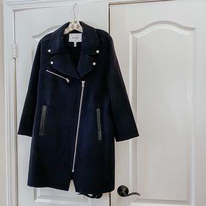 DEREK LAM 10 CROSBY Double-Face Wool Moto Coat